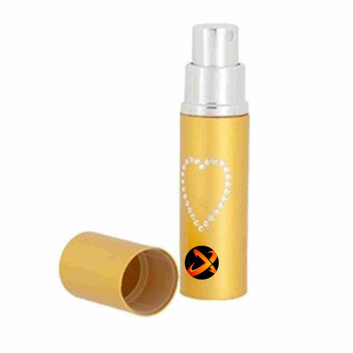 Lipstick pepper spray without cap