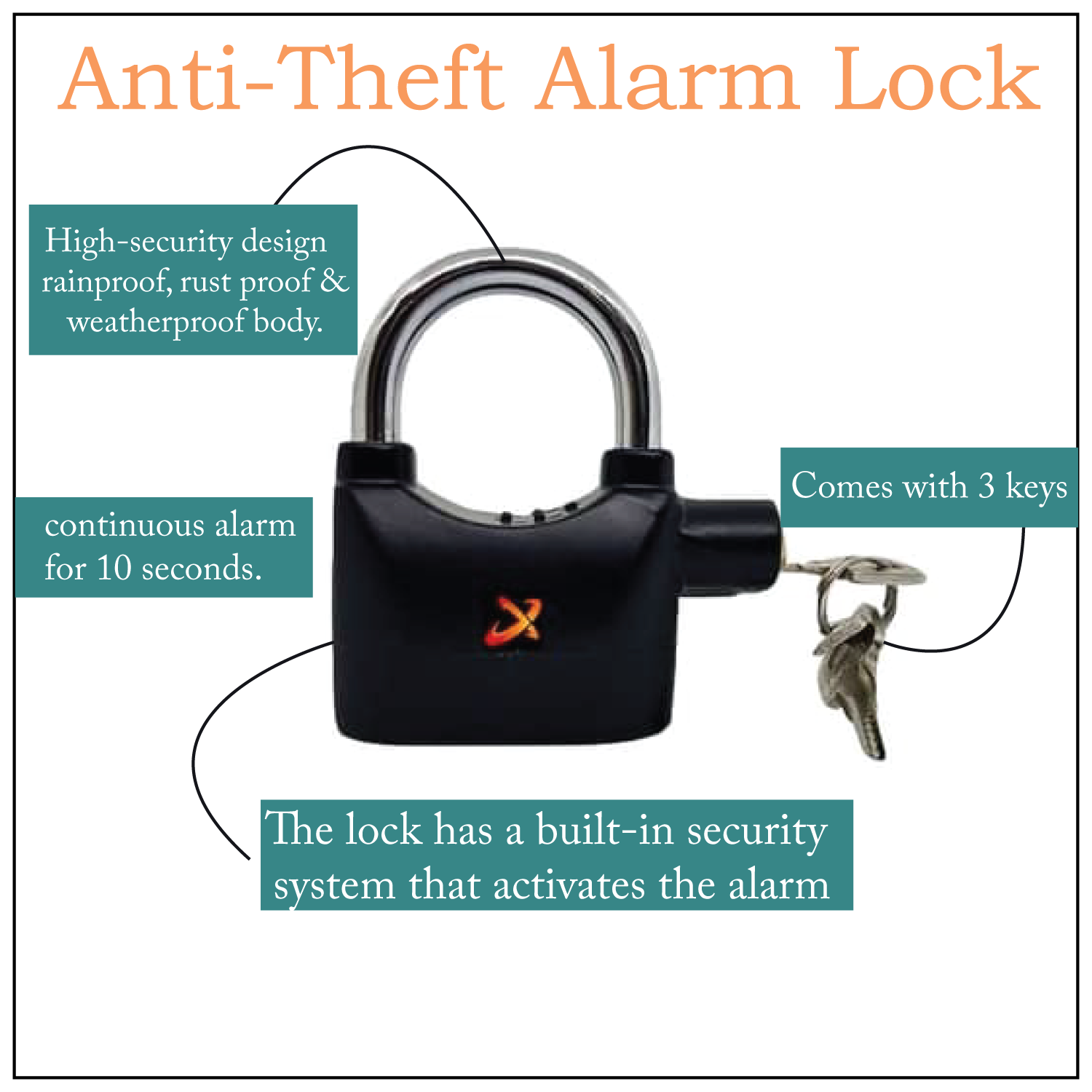 Anti-theft Alarm Lock - Personal Safety Gadgets