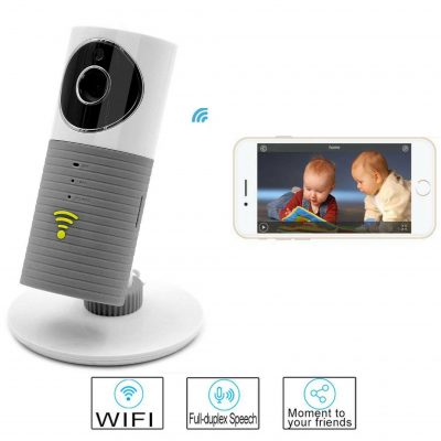 Clever Dog Smart Wifi Camera Baby Monitor for Home Security Intercom P2P Night Vision