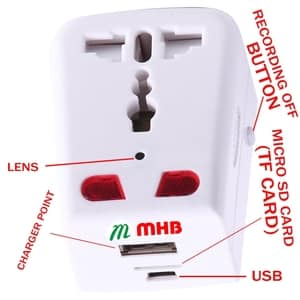 Mobile Charger Hidden Camera