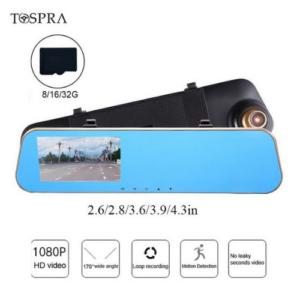 "TOSPRA 4.3"" HD Car Dvr Camera"