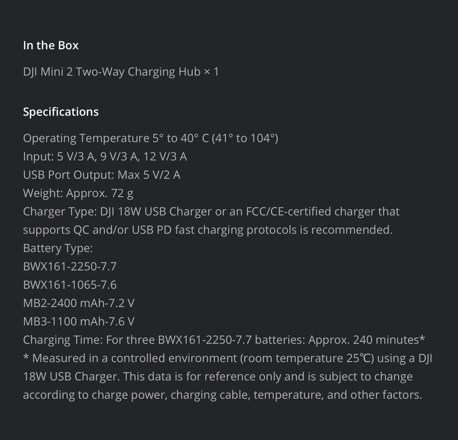 features.4 mini 2 2 way charging hub